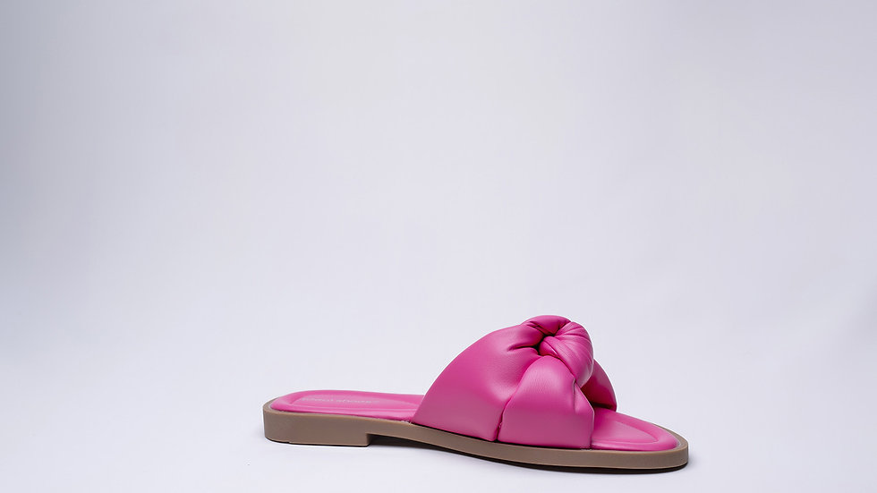 Sandales plate nouée rose fushia pas cher Abidjan