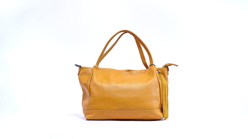 Sac à main femme en cuir jaune Abidjan