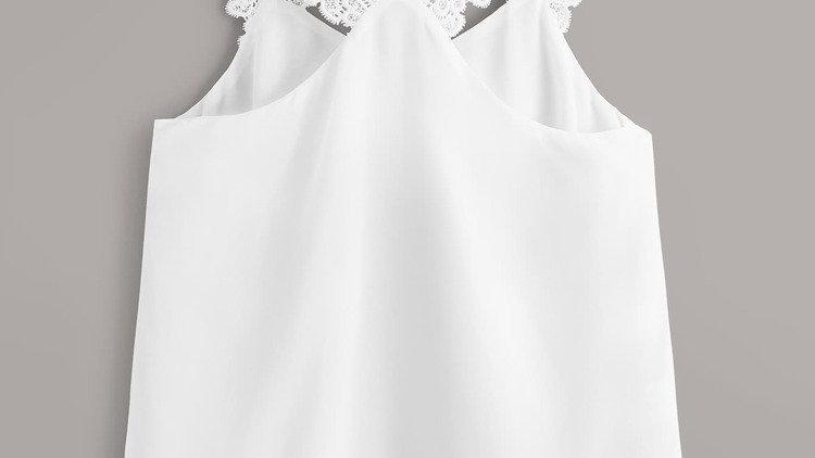 Top blanc online fashion manche en dentelle Abidjan