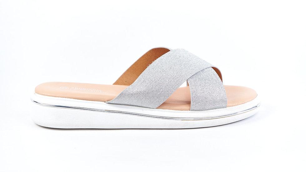 Sandales grise à plateforme