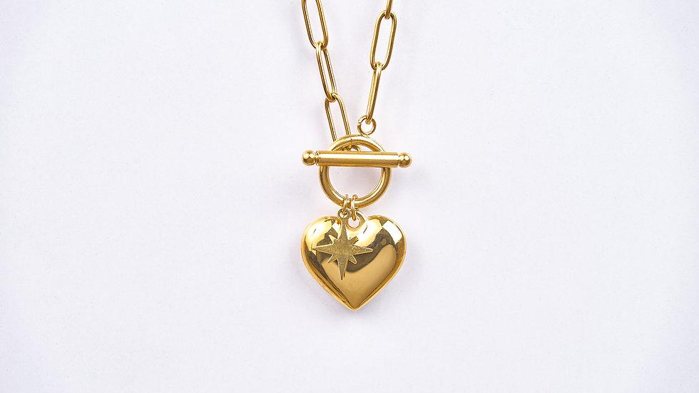 Ensemble chaine & bracelet médaille cœur