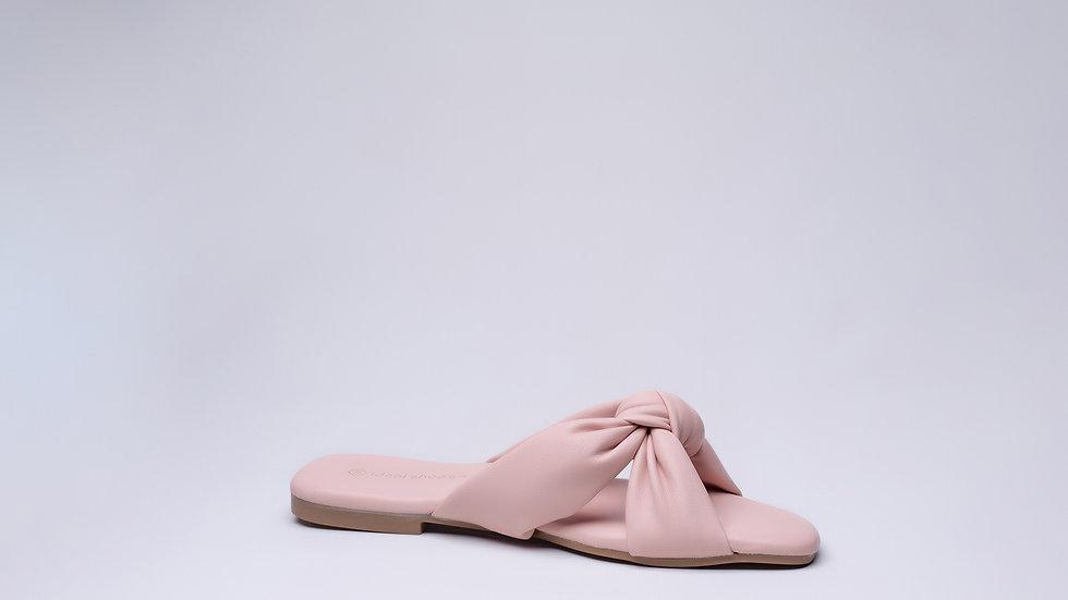 Sandale plate Avec Nœud