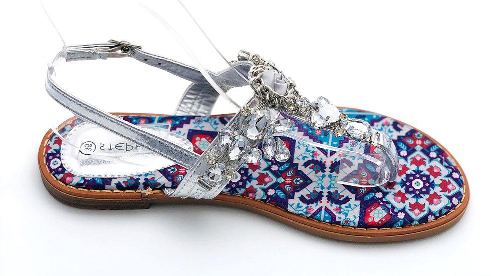 Sandales à perles colorées