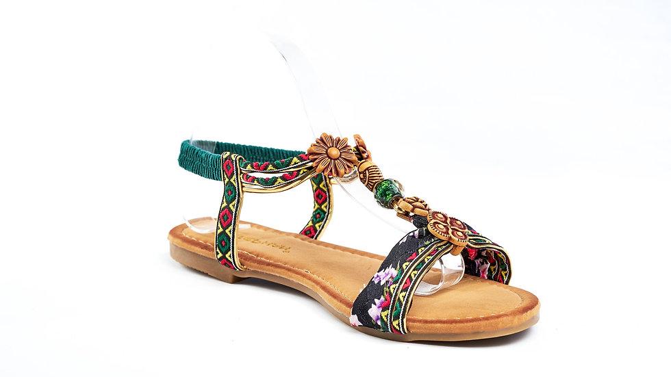 Sandales nu-pied ethnique