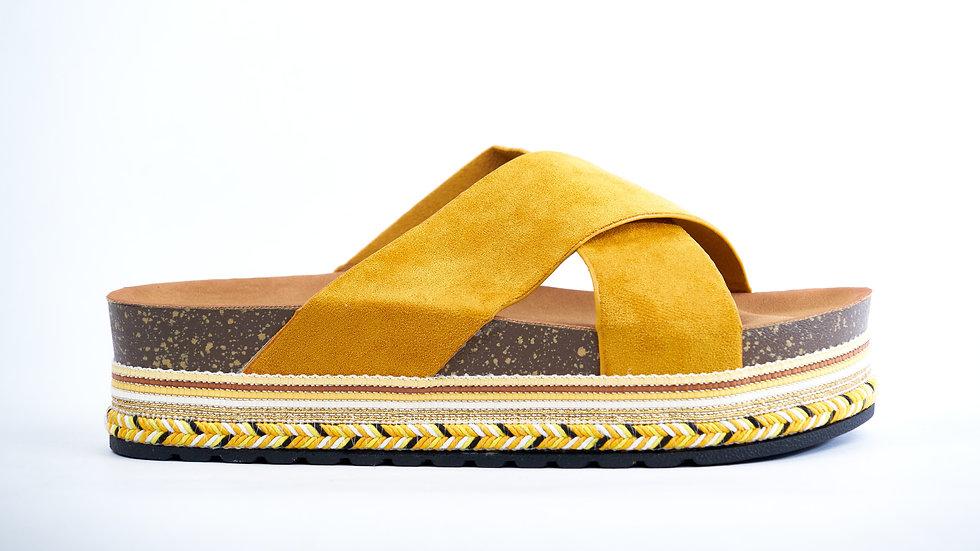 Sandales jaune à plateformes