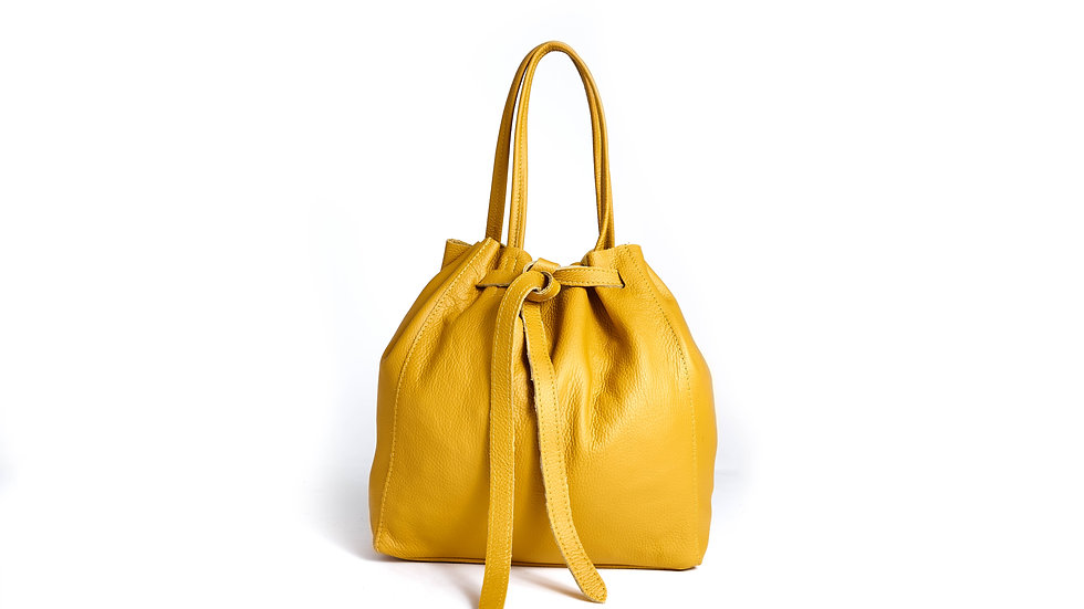 Sac Fourre-tout  jaune en cuir Abidjan