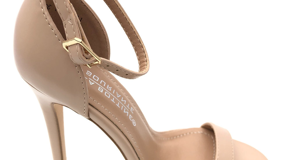 Sandale à talon beige