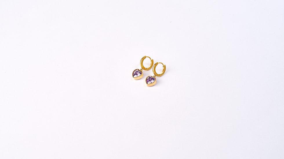 Boucles d'oreilles petites créoles cœur