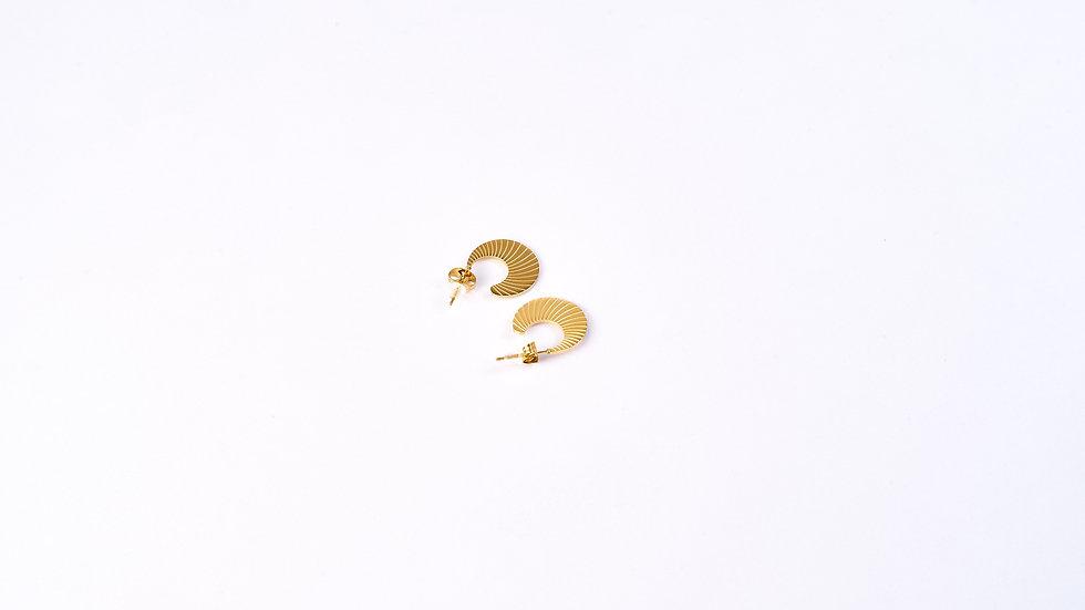 Boucles d'oreilles à forme ammonite
