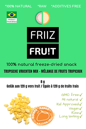 FRIIZ FRU!T FREEZE-DRIED EUROPE NOIRTH ATLANTIC FOOD TRADING