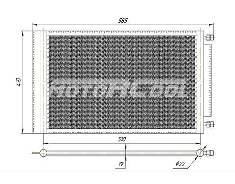 Радиатор кондиционера 16''*21'*18 mm (RC-U0212)