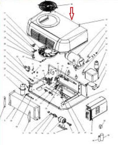 Облицовка (крышка) конденсатора Zanotti SFZ 114-213 (1KIT173)