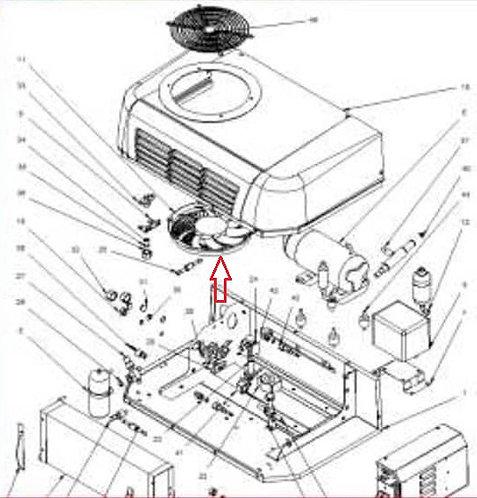 Вентилятор конденсатора 12В Zanotti SFZ 213-219 (3MTV434) 3MTV090