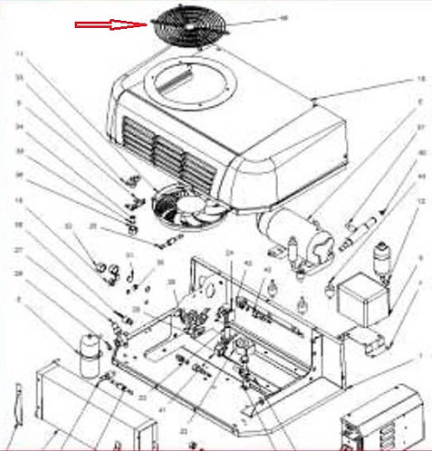 Решётка вентилятора Zanotti SFZ 213-219 (3GRI041)