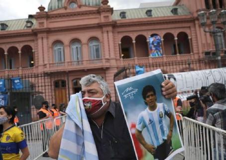 La Casa Rosada abrió sus puertas para el velatorio de Diego Maradona