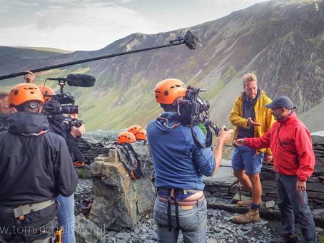 TV adventurer Ben Fogle takes on Honister's Via Ferrata