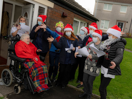 Cumbrian Care Company Celebrate Christmas With Santa Deliveries and Carol Singing