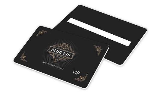Club 135 Membership Card