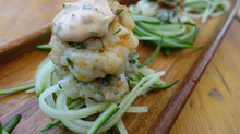 Easy Mint Shrimp Patties with Chilli Dipping Sauce