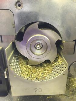 Napier grass cutting with 2mm sieve