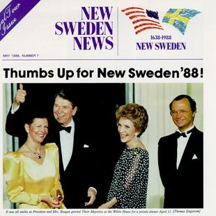 Ronald Regan and Swedish King - Washington, DC