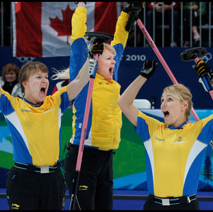Swedish Gold in Curling - Winter Olympics, Vancouver, Canada