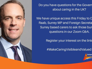Dominic Raab Q&A with Action for Carers