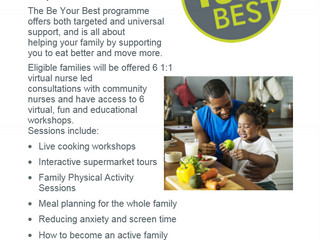 Be Your Best is about supporting families to eat better and move more.