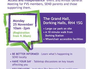 Sally Allen & Liz Mills presentation summaries from our recent AGM & Annual Event