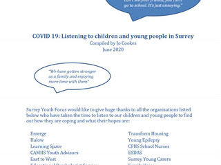 Report findings: COVID: Listening to children and young people in Surrey