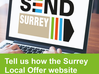 Tell us how the Surrey Local Offer website can be improved.