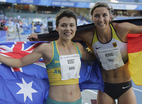 Bisset bags gold whilst Diamond shines for silver in athletics