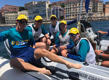 Sailors set sail for medal push and more action from around Napoli