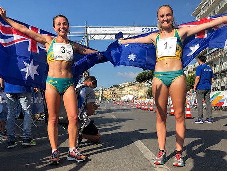 Winning walkers all smiles after three medal haul