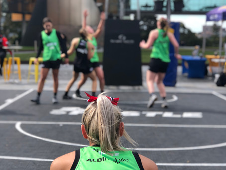 MQU and UTS bring the hustle at Nationals 3x3 basketball