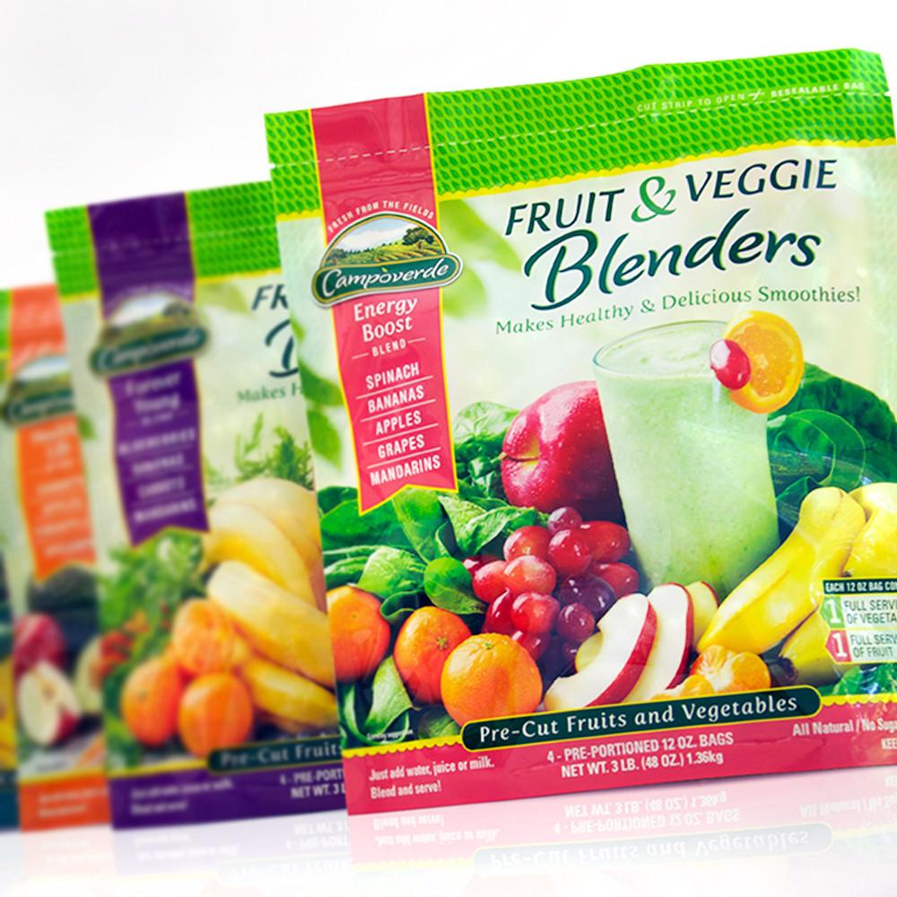 Zullo Agency in Princeton NJ showcases their award winning packaging design for Campoverde Fruit & Veggie Blenders