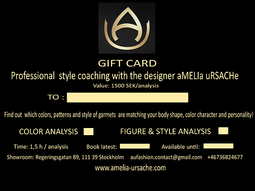GIFT CARD / Colour analysis // Figure & style analysis