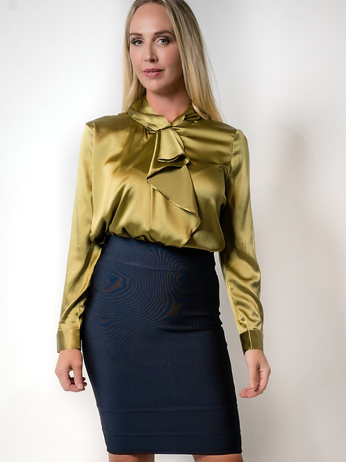 Trudy Green Silk Blouse