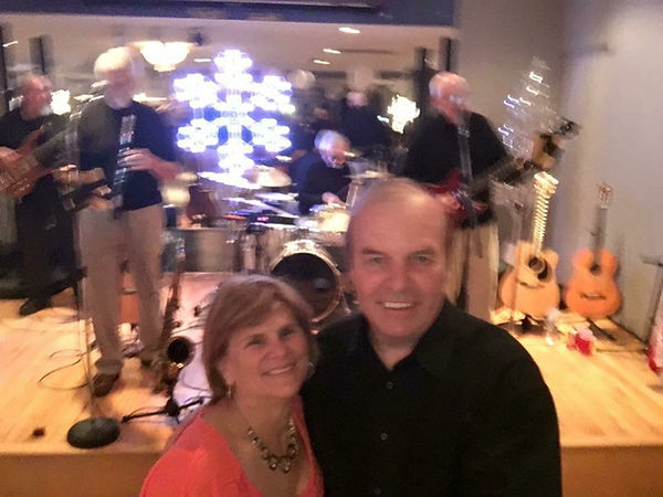President of the Let's Dance Club, Mr. William Voight and his wife, Cindy.  Faded Youth playing in the background.