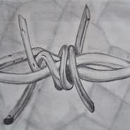 simbologia sobre inmigracion/ grafito sobre papel