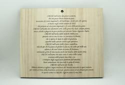 Targa in legno