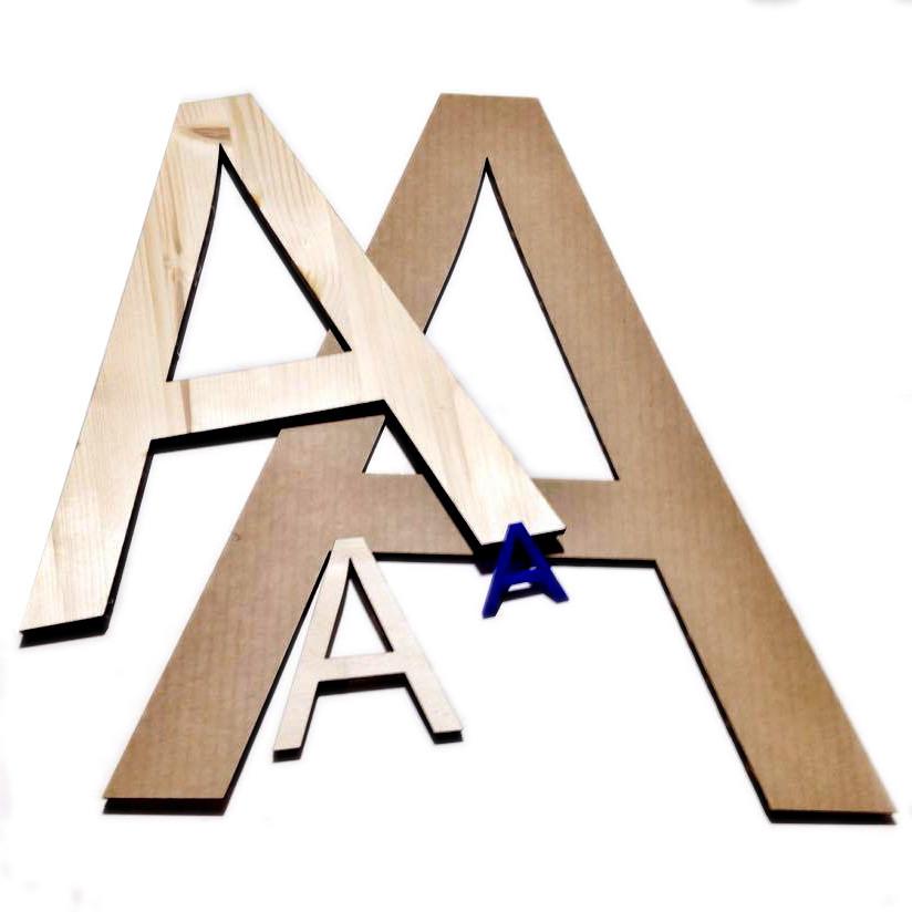 scritte taglio laser legno