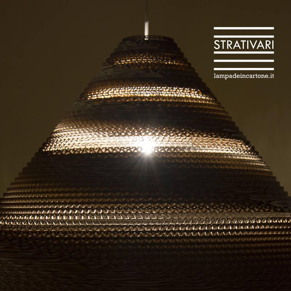 Lampade in cartone STRATIVARI Delta