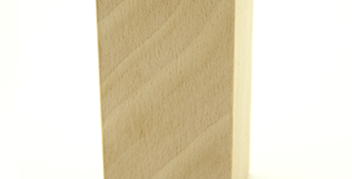 Timbro quadrato con base in legno e gomma incisa al laser