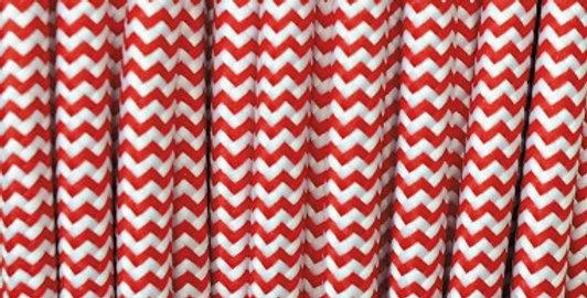 Filo Elettrico Zig-Zag Bianco-Rosso - TO107 3 fili