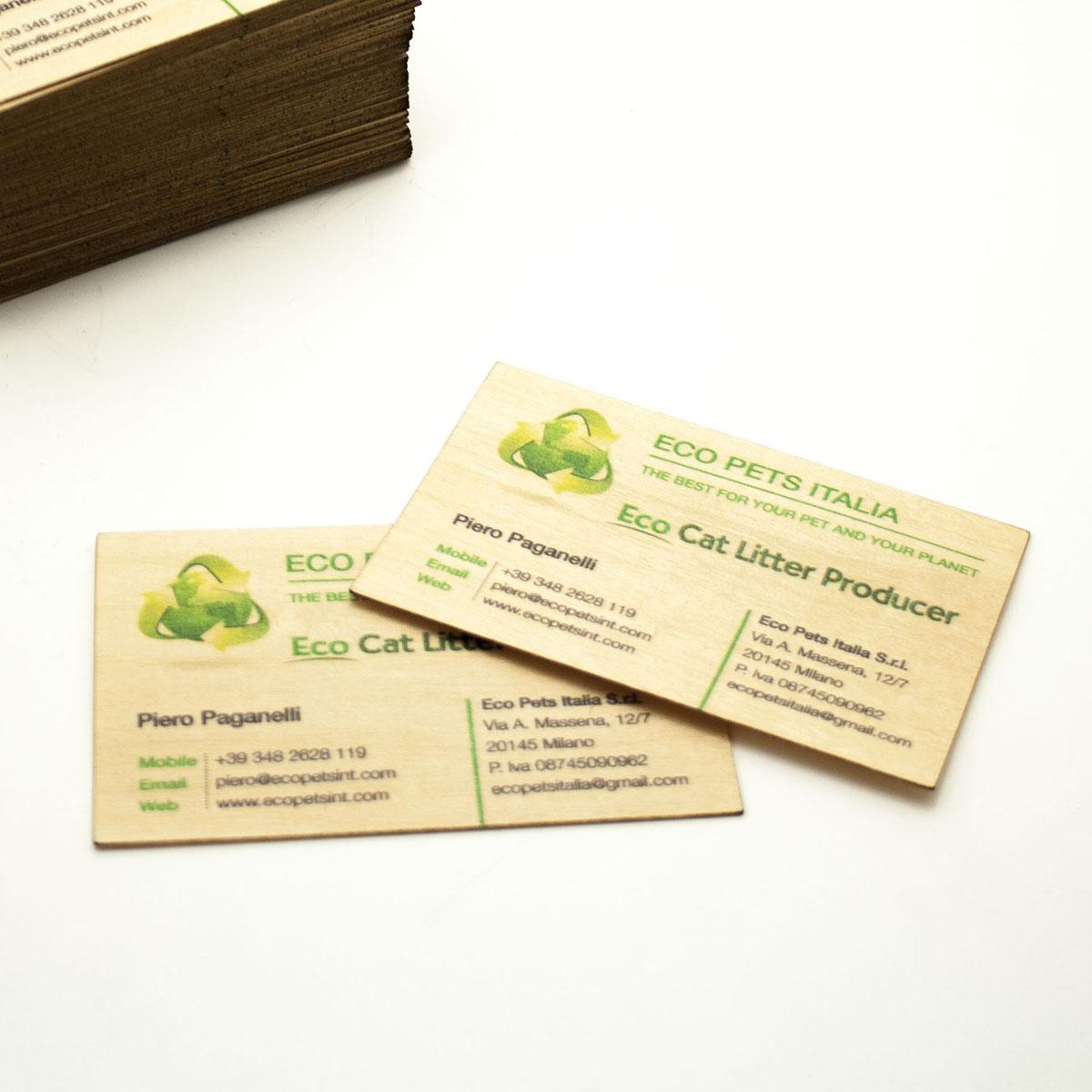 Biglietti da visita in legnomassello