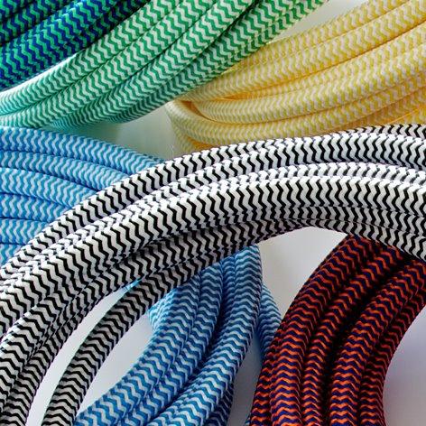 Cavi elettrici colorati telati