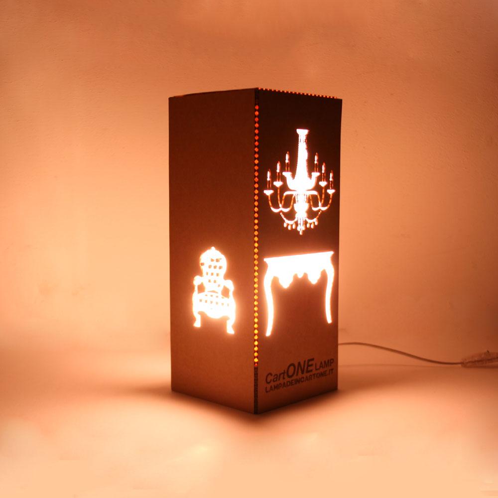 CartONE lampada da tavolo