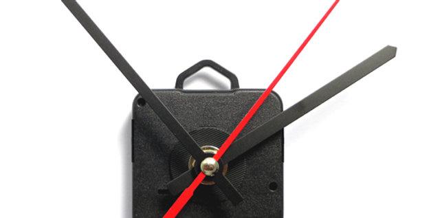 Meccanismo orologio a lancette nero