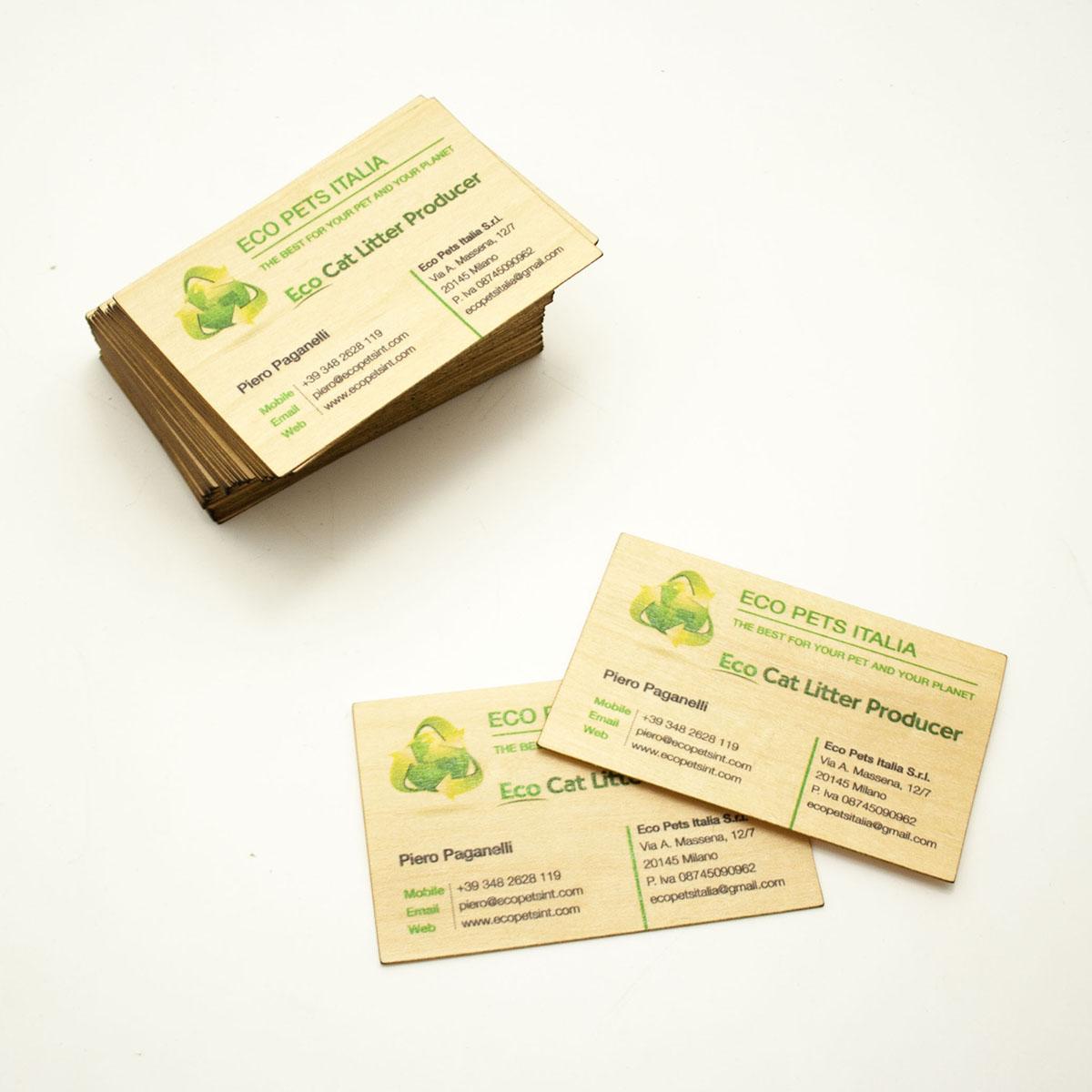 Biglietti da visita in legno